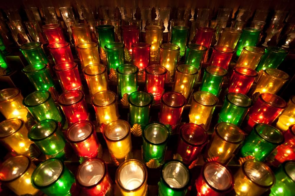 colorful candles for children